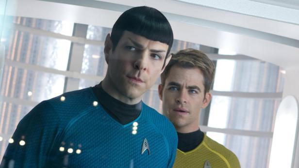 """Zachary Quinto als Spock und Chris Pine als Kirk in """"Star Trek"""""""