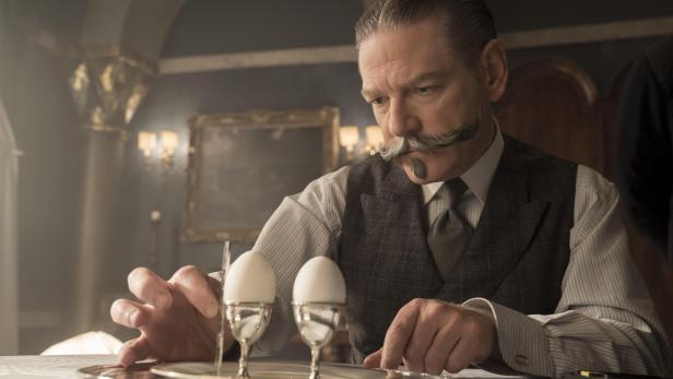 """Kenneth Branagh als Hercule Poirot in """"Mord im Orient Express"""" (2017)"""