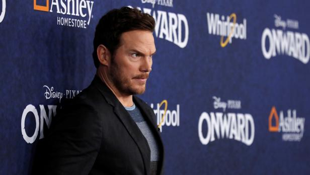 """Cast member Pratt poses at the premiere for the film """"Onward"""" in Los Angeles"""