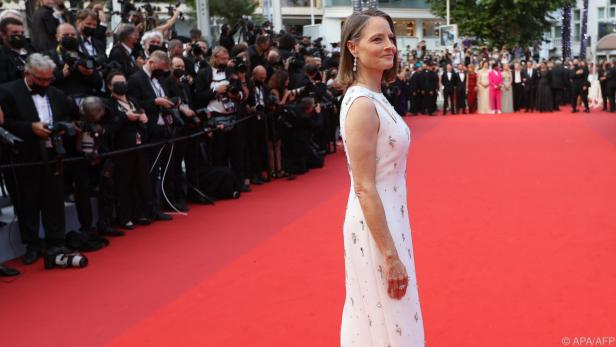 Hollywood-Star Jodie Foster am roten Teppich in Cannes