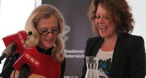 Kathrin Zechner und Eva Spreitzhofer bei der Bekanntgabe der Nominierungen